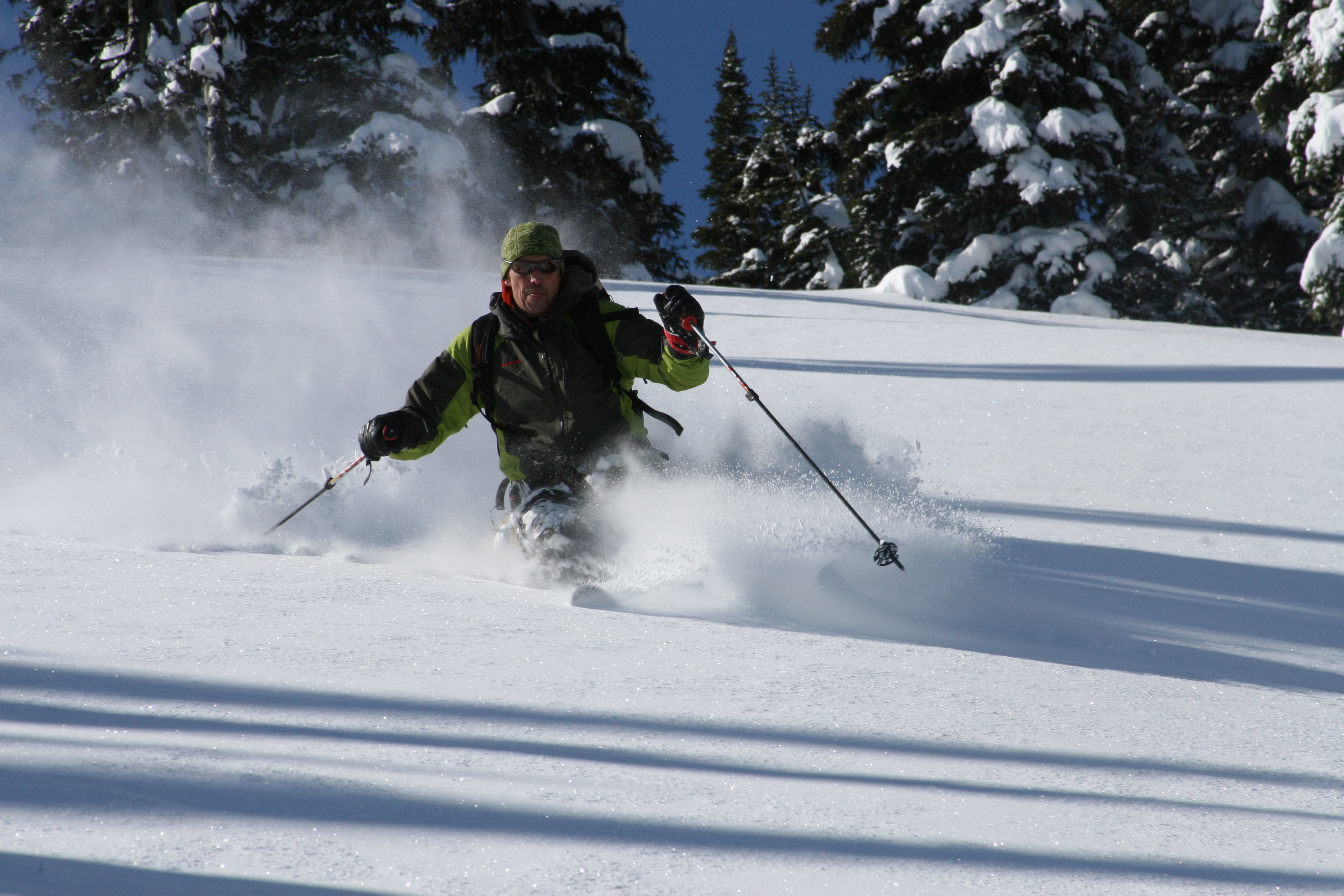 Bearpaw Heli skiing deep powder