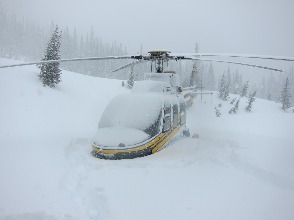 bearpaw heli-skiing helicopter